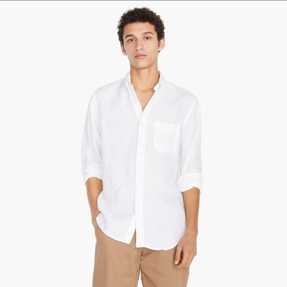 J crew Slim Baird McNutt Irish linen shirt K7900